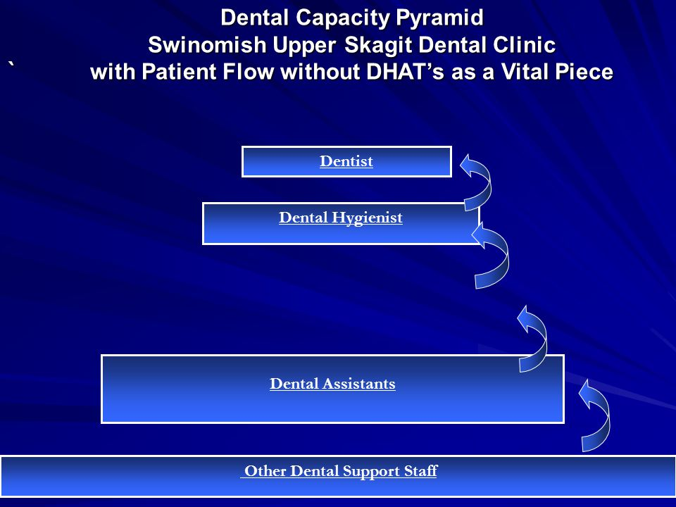 Dental Capacity Pyramid Swinomish Upper Skagit Dental Clinic with Patient Flow without DHAT's as a Vital Piece ` Other Dental Support Staff Dental Ass