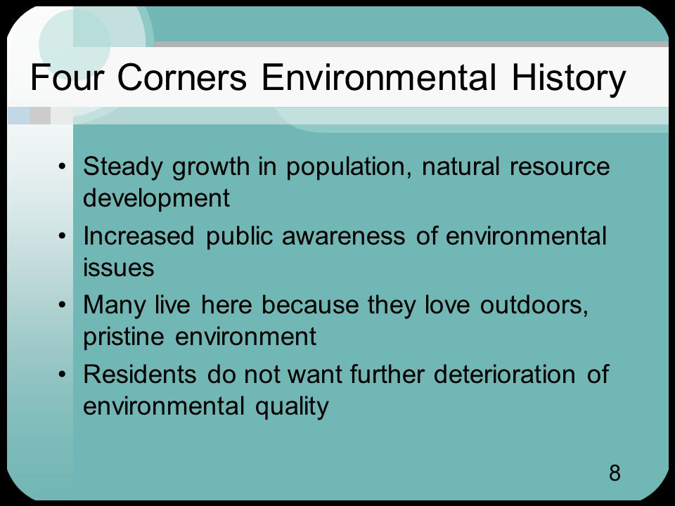 9 Ozone in the Four Corners Southern Ute Air Quality Program (SUAQP) began in 1981 One of the first tribal air programs Local ozone levels always reasonable Few new air quality programs in area