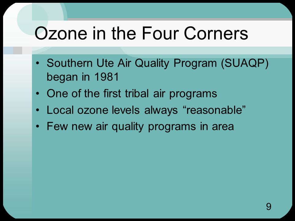 20 Data will Help Your Tribe Ozone monitoring is beneficial If data show ozone problem, your tribe can implement control strategies If data show no problem, your tribe can encourage environmentally responsible economic development Data help tribes make good decisions Data help protect tribal sovereignty