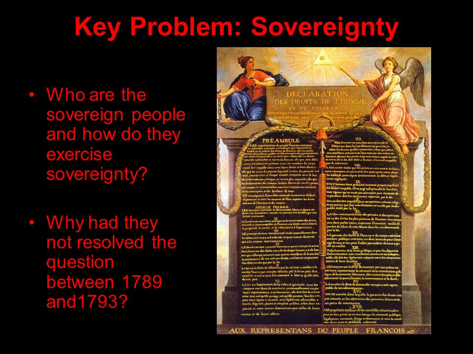 Key Problem: Sovereignty Who are the sovereign people and how do they exercise sovereignty.