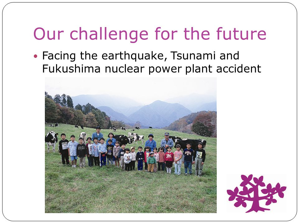 Our challenge for the future Facing the earthquake, Tsunami and Fukushima nuclear power plant accident