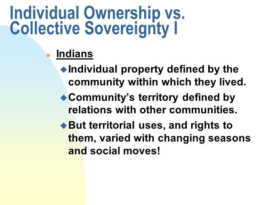 Individual Ownership vs.