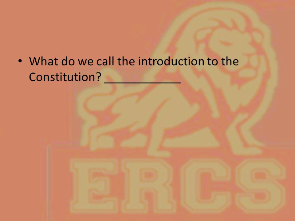 What do we call the introduction to the Constitution? ____________