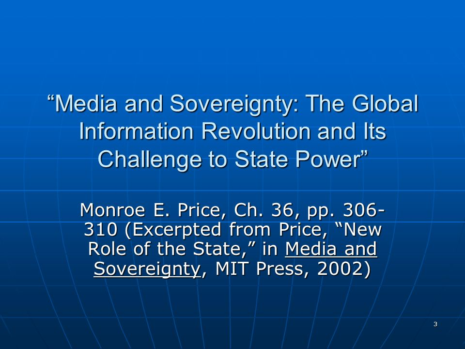 4 Key questions How is the balance of power in media – among states, citizens, and TNCs – changing.