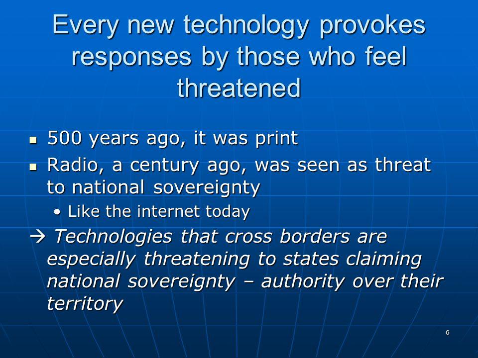 7 Technologies of freedom .
