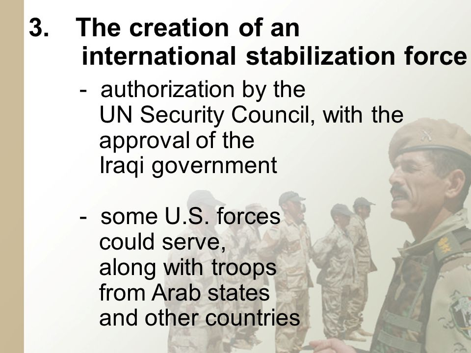 - assure more balanced officer corps -combine with current forces -begin process of integrating militias