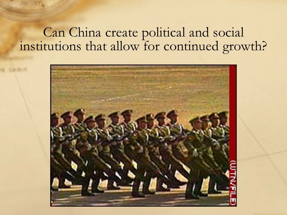 Can China create political and social institutions that allow for continued growth