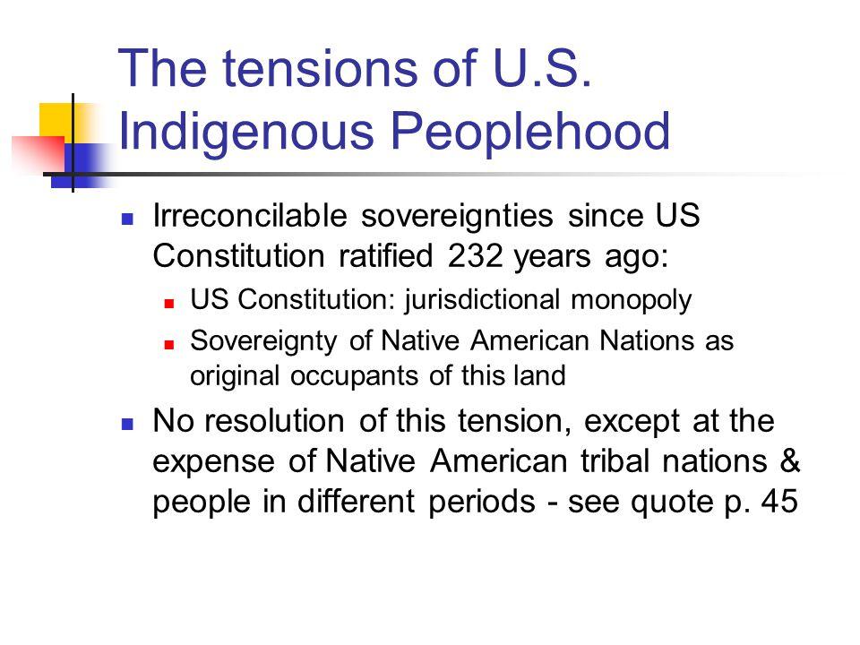 The Distinctiveness of Native American Peoplehood 1.