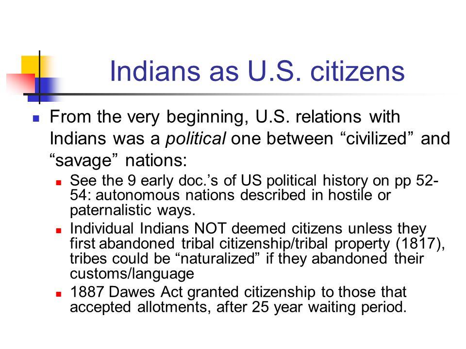 Indians as U.S.