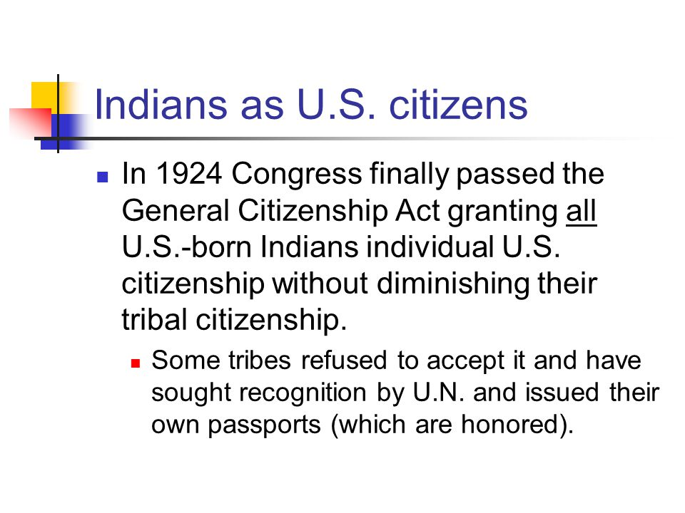Indians as U.S.