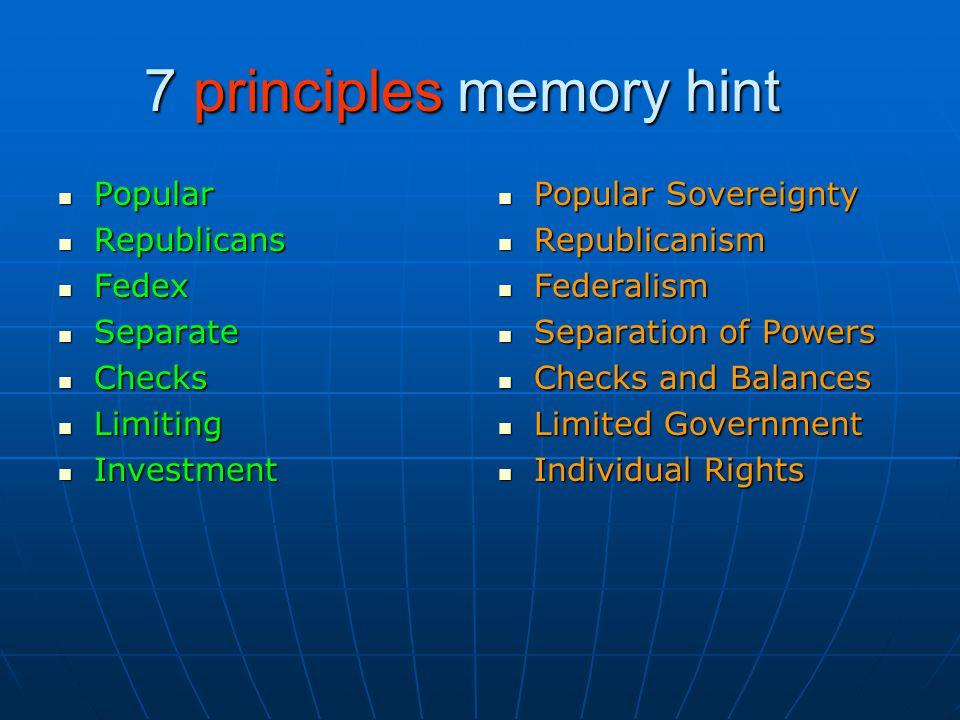 7 principles memory hint Popular Popular Republicans Republicans Fedex Fedex Separate Separate Checks Checks Limiting Limiting Investment Investment P