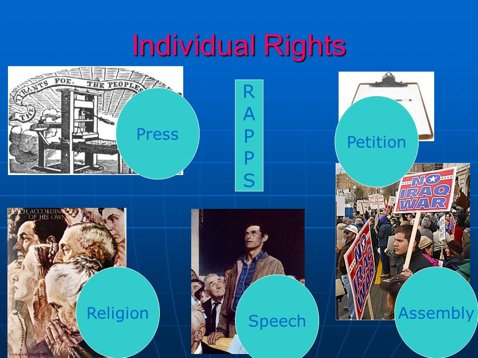 Individual Rights Press ReligionAssembly Speech Petition RAPPSRAPPS