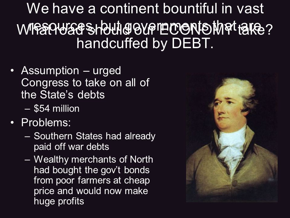 We have a continent bountiful in vast resources, but governments that are handcuffed by DEBT.