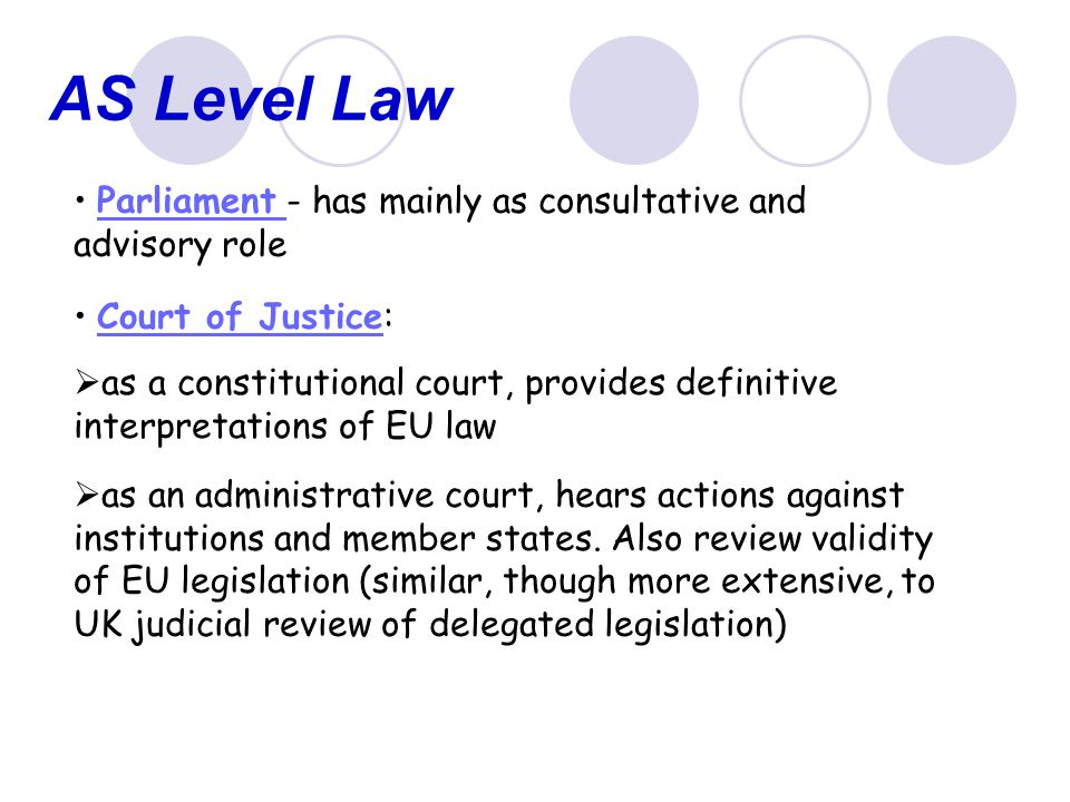 AS Level Law Direct Applicability and Direct Effect these two concepts are fundamental to understanding the impact of EU legislation on member states direct applicability - a provision of EU law is DA where it is automatically part of the law of each member state.