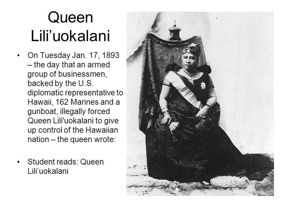Queen Lili'uokalani On Tuesday Jan.