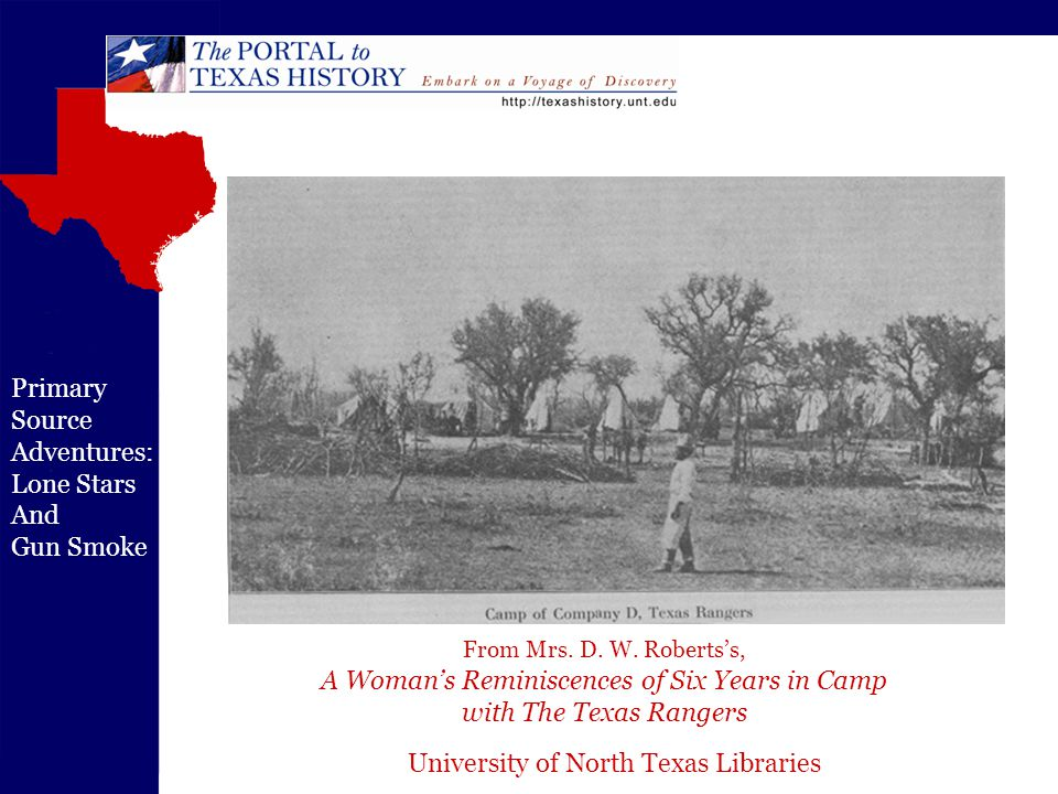 University of North Texas Libraries Primary Source Adventures: Lone Stars And Gun Smoke From Mrs.