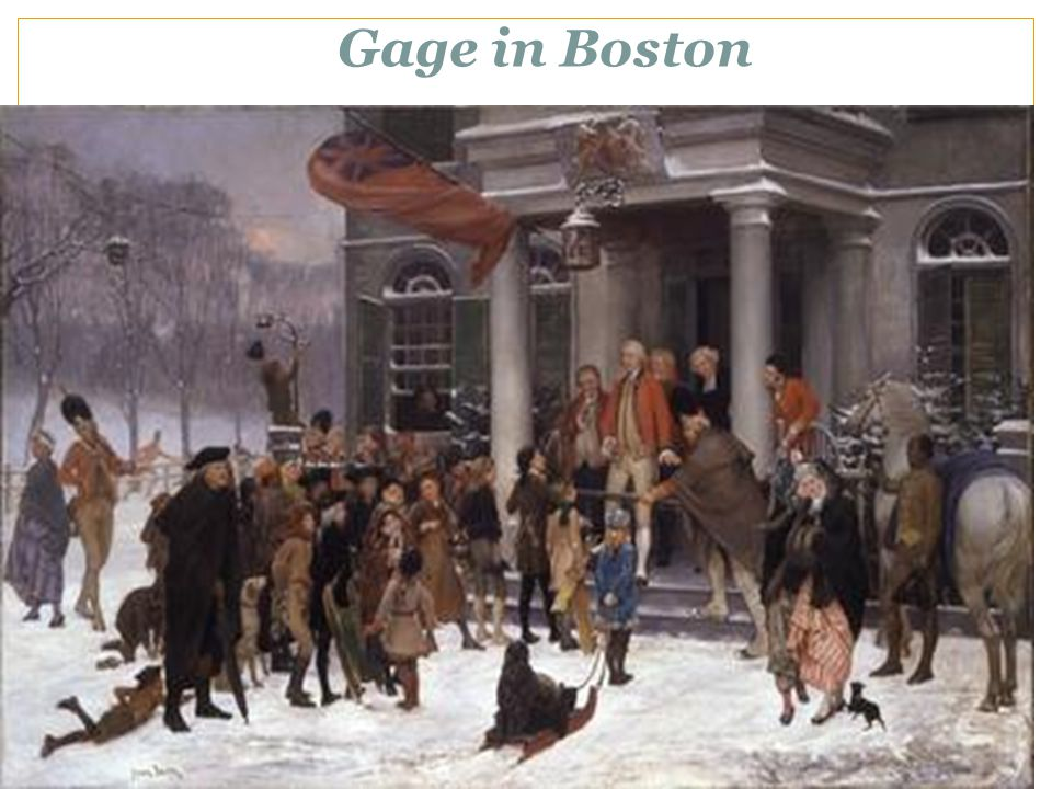 Gage in Boston