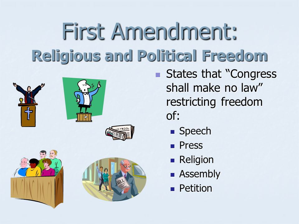 Bill of Rights First ten amendments to the Constitution First ten amendments to the Constitution (ratified in 1791) (ratified in 1791)