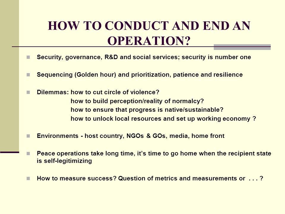 HUMAN DIMENSION Peace operations between nobility and pragmatism (Nobel Peace Prize 1988 vs.