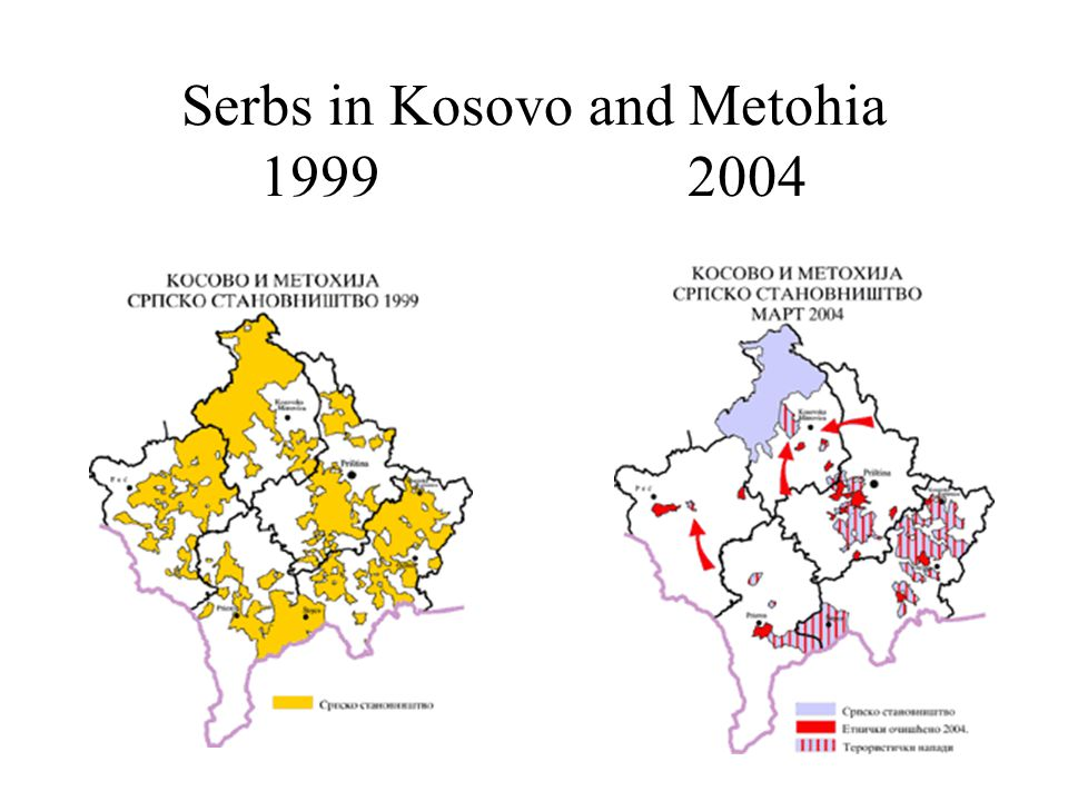 Serbs in Kosovo and Metohia 19992004