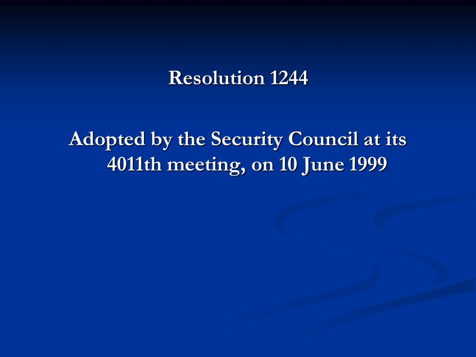 Article 10 Authorizes the Secretary-General, with the assistance of relevant international organizations, to establish an international civil presence in Kosovo in order to provide an interim administration for Kosovo under which the people of Kosovo can enjoy substantial autonomy within the Federal Republic of Yugoslavia, and which will provide transitional administration while establishing and overseeing the development of provisional democratic self-governing institutions to ensure conditions for a peaceful and normal life for all inhabitants of Kosovo;