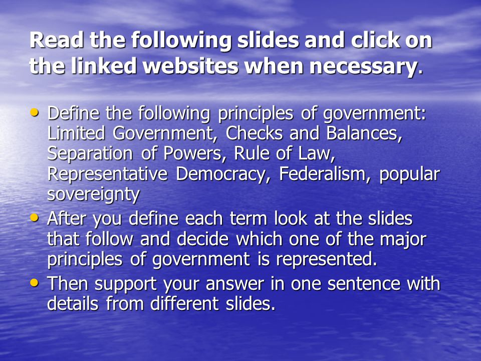 Federalism Federalism refers to the splitting of power between the federal government and the states.