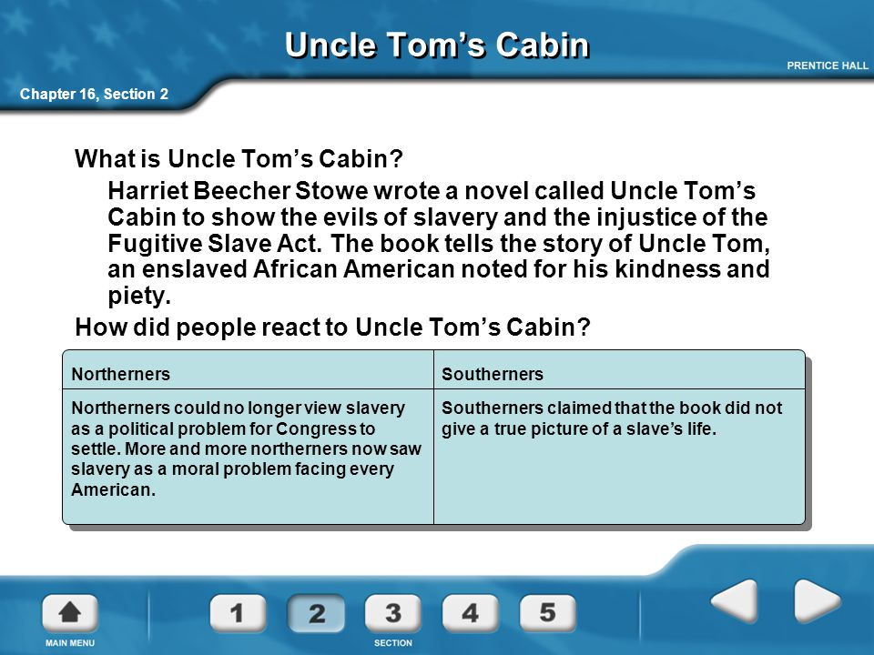 Chapter 16, Section 2 Uncle Tom's Cabin What is Uncle Tom's Cabin.