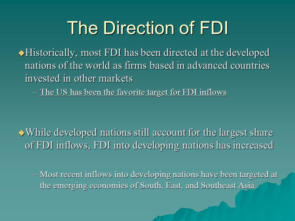 REGIONAL DEVELOPMENT IMPLICATIONS OF FDI  Post Communist Eastern Europe, e.g.