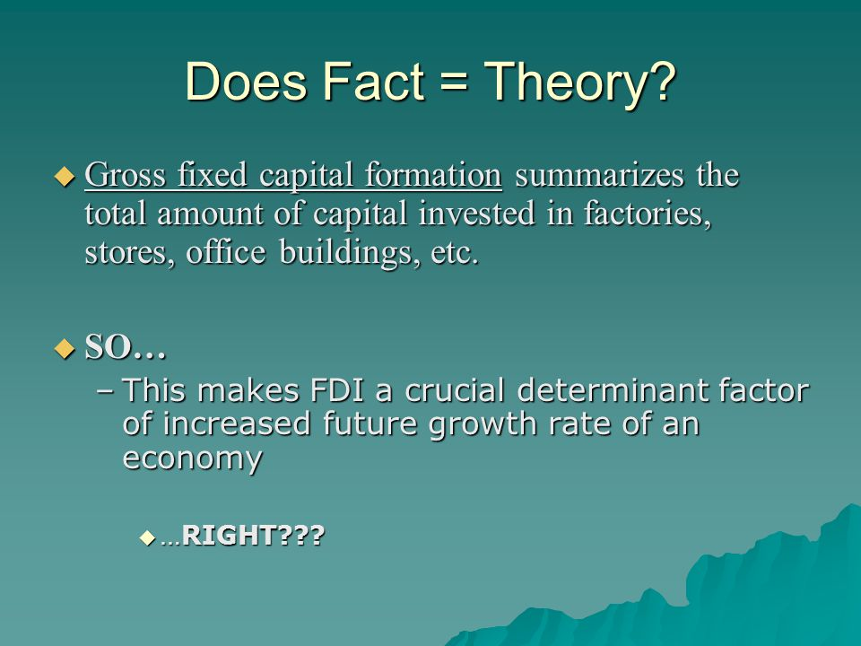 Costs of FDI to Host Countries  Adverse effects on competition  Adverse effects on the balance of payments –After the initial capital inflow there is normally a subsequent outflow of earnings –Foreign subsidiaries could import a substantial number of inputs  National sovereignty and autonomy –Some host governments worry that FDI is accompanied by some loss of economic independence resulting in the host country's economy being controlled by a foreign corporation