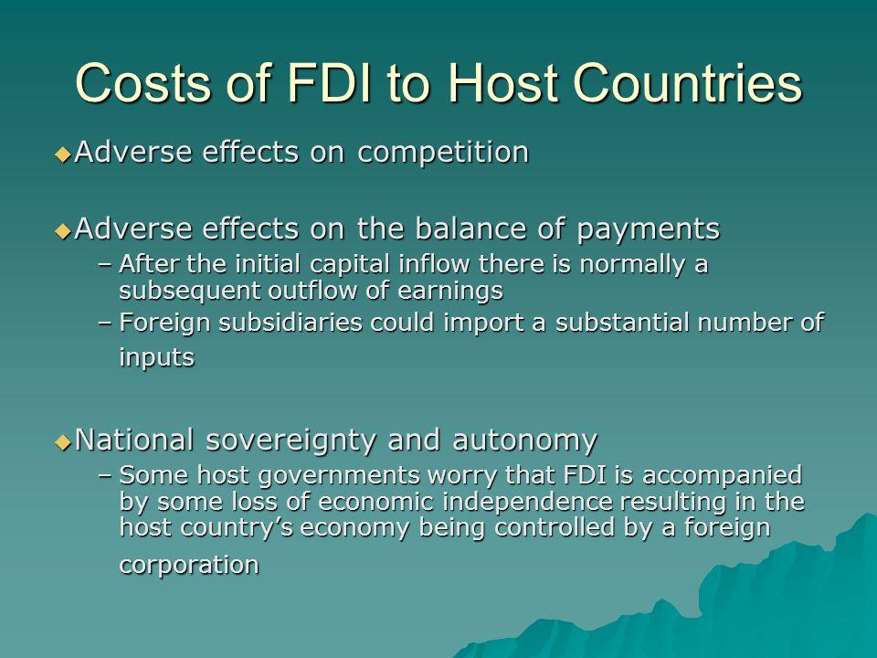 Political Ideology and FDI Radical View Pragmatic Nationalism Free Market