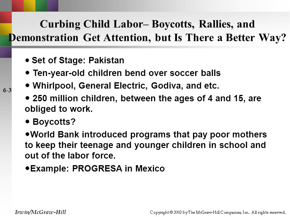 Curbing Child Labor– Boycotts, Rallies, and Demonstration Get Attention, but Is There a Better Way.