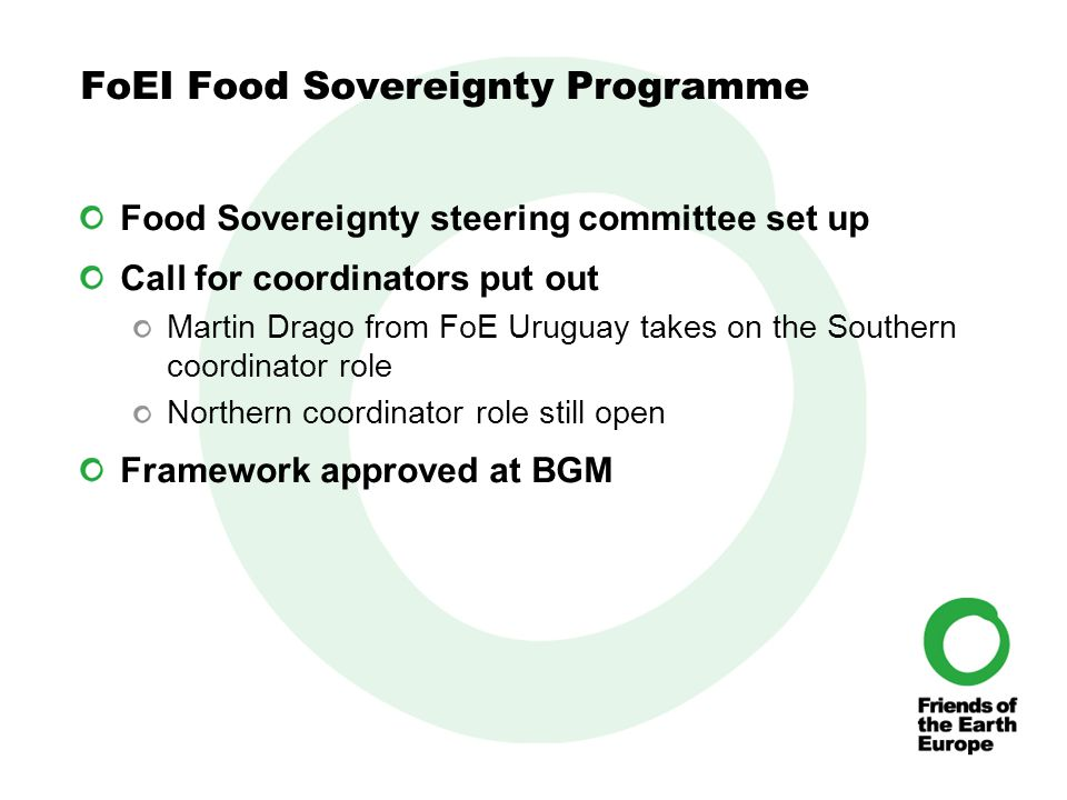 We are building global food sovereignty which is based on diverse localised solutions.