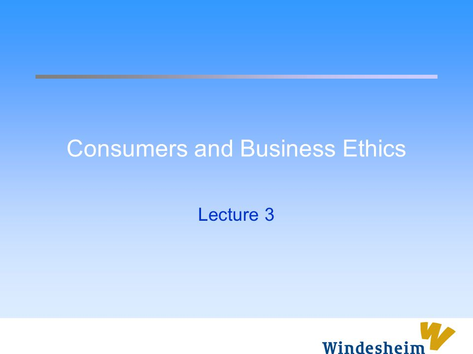 Overview Discuss the specific stake that consumers have in corporate activity Outline the ethical issues and problems faced in business-consumer relations Examine issues in context of globalization Arguments for more responsible marketing practices Develop notion of corporate citizenship in relation to consumers Examine the challenges posed by sustainable consumption