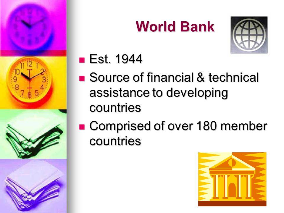 World Bank Est. 1944 Est.