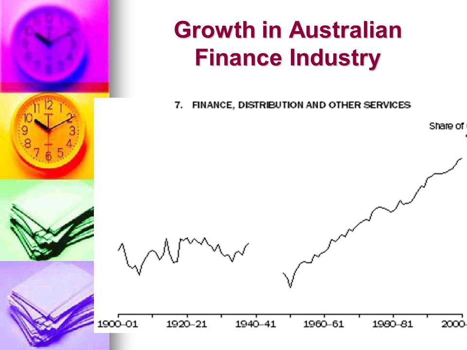 Growth in Australian Finance Industry