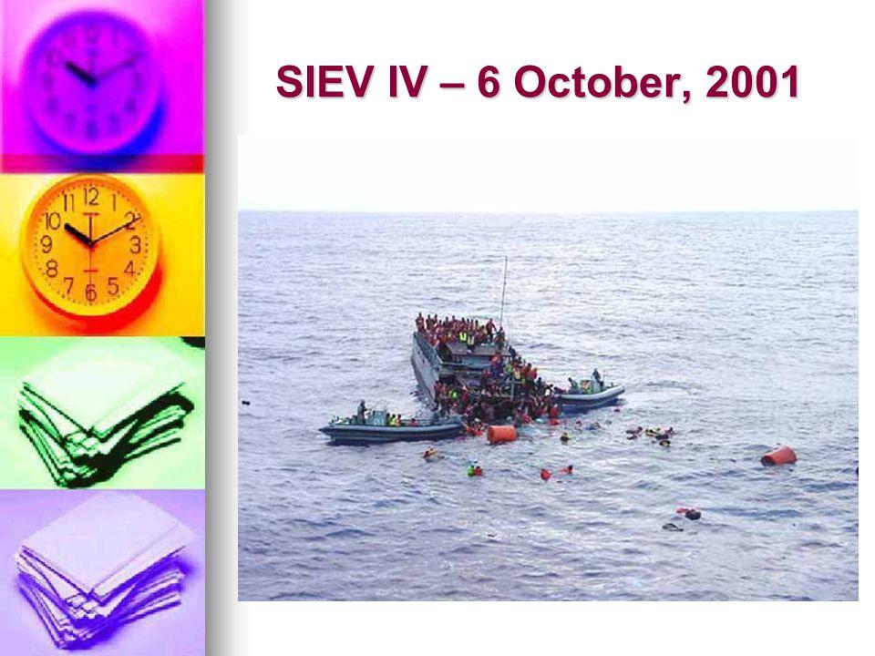 SIEV IV – 6 October, 2001