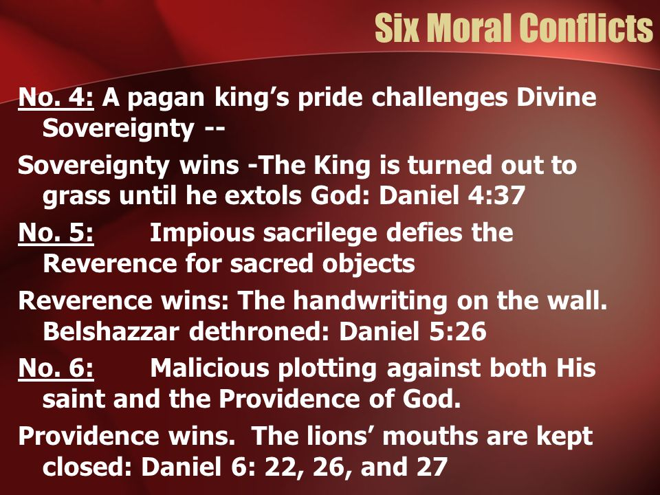 Six Moral Conflicts No.