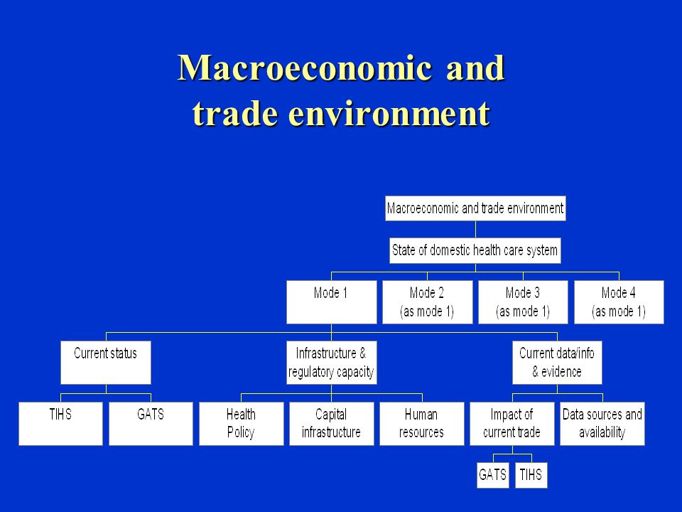 Macroeconomic and trade environment