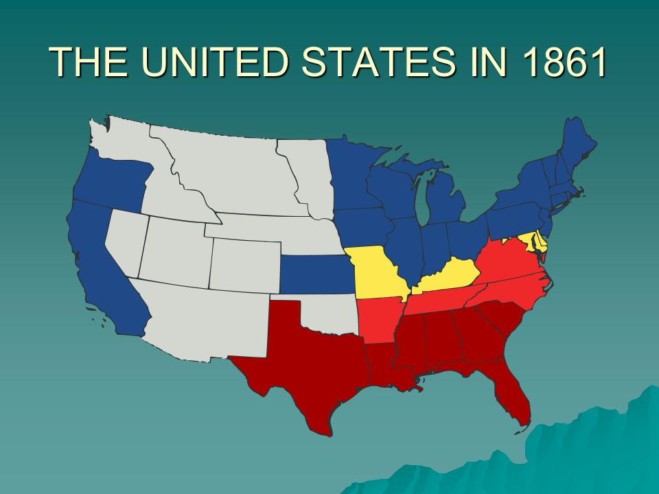 THE UNITED STATES IN 1861