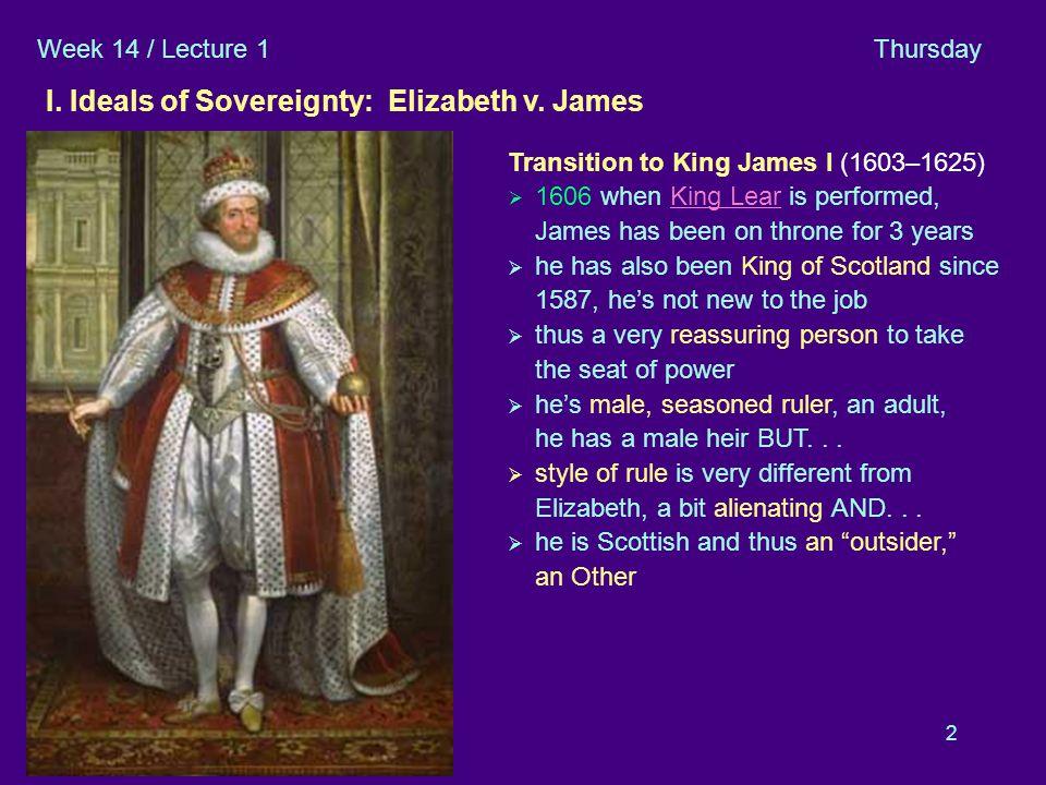2 I Elizab. v Jam es B I. Ideals of Sovereignty: Elizabeth v.