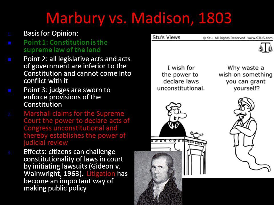 Marbury vs. Madison, 1803 Marbury vs. Madison, 1803 1.
