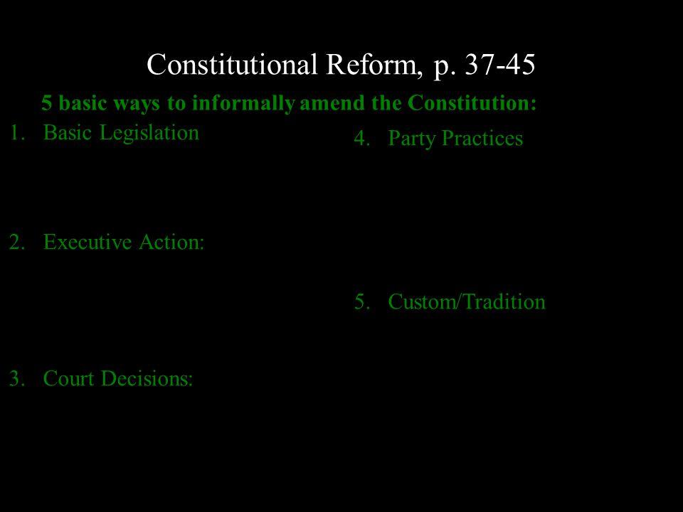 Constitutional Reform, p.