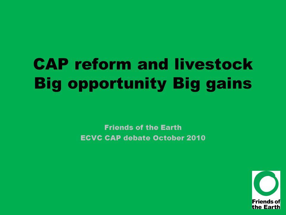 CAP reform and livestock Big opportunity Big gains Friends of the Earth ECVC CAP debate October 2010
