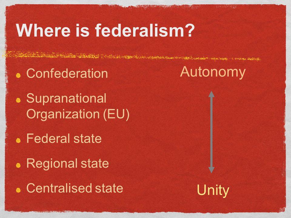Where is federalism.