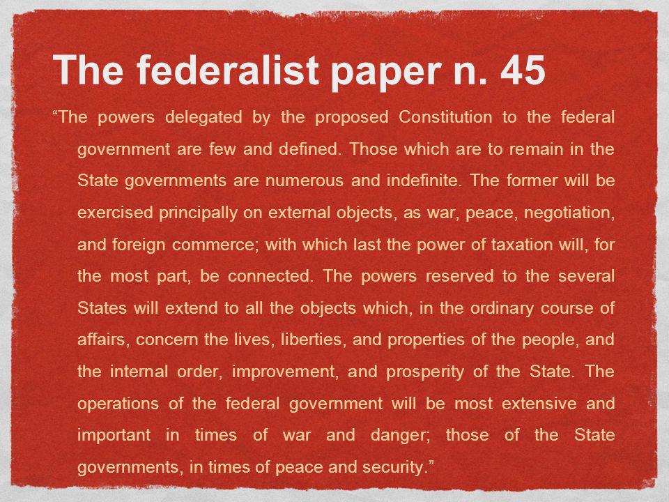 The federalist paper n.