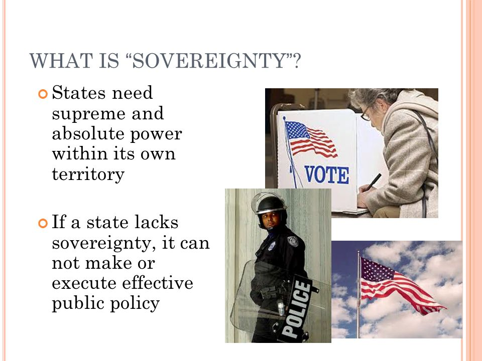 WHAT IS SOVEREIGNTY .
