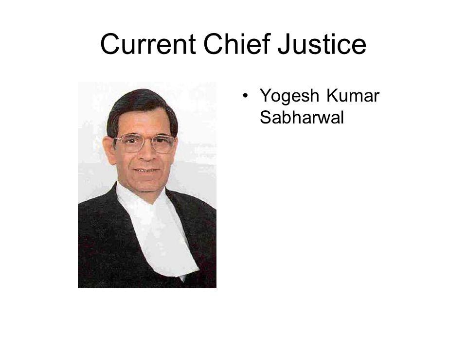 Current Chief Justice Yogesh Kumar Sabharwal