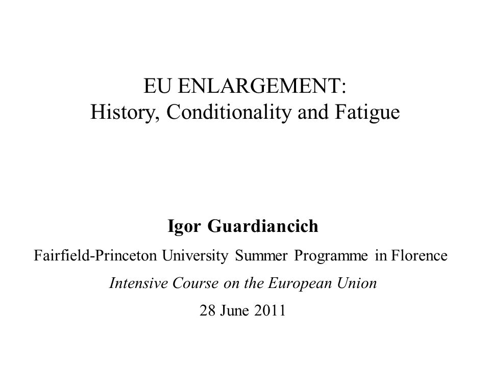EU enlargement fatigue - III Political concerns At the core of political disputes lies the accession of Turkey to the EU.