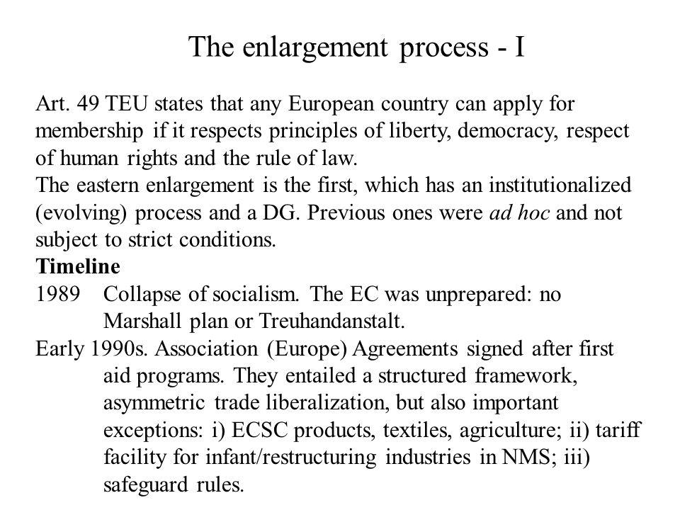 The enlargement process - II 1993 Copenhagen.