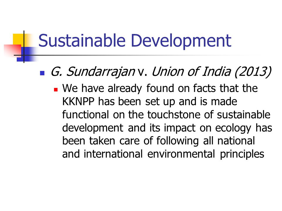Sustainable Development G.Sundarrajan v.